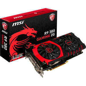 MSI R9 380 GAMING 2G Radeon R9 380 Graphic Card - 1 GHz Core - 2 GB GDDR5 - PCI Express 3.0 x16