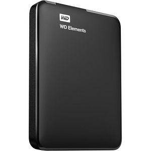 WD WDBU6Y0020BBK-EESN Elements USB 2TB 3.0 high-capacity portable hard drive for Windows