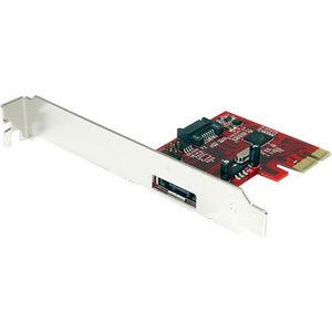 StarTech PEXSAT31E1 1x eSATA + 1x SATA 6 Gbps PCI Express SATA Controller Card Adapter