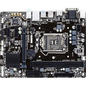 GIGABYTE GA-H110M-S2H GSM Ultra Durable Desktop Motherboard - H110 Chipset - Socket H4 LGA-1151