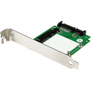 StarTech SAT32MSATPEX SATA to mSATA SSD Adapter w/ Full and Low Profile Brackets - Converter Card