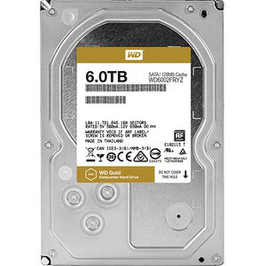 WD WD6002FRYZ Gold 6TB high-capacity datacenter hard drive