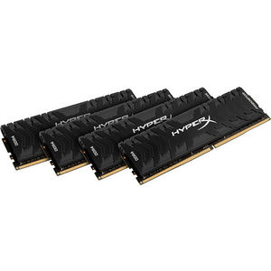 Kingston HX430C15PB3K4/64 Predator Memory Black 64GB Kit (4x16GB) DDR4 3000MHz Intel XMP CL15 DIMM