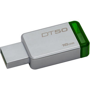 Kingston DT50/16GB 16GB USB 3.0 DataTraveler 50 (Metal/Green)