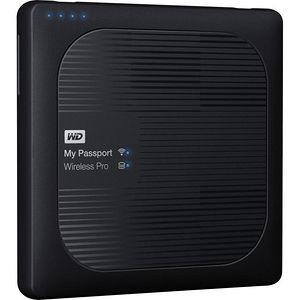 WD WDBVPL0010BBK-NESN 1TB My Passport Wireless Pro Portable Hard Drive - WiFi AC, SD, USB 3.0