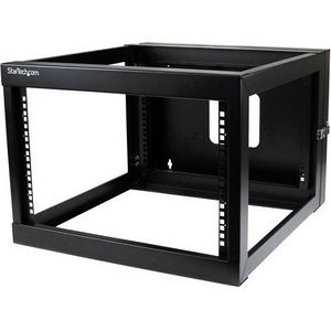 StarTech RK619WALLOH 6U 22in Depth Hinged Open Frame Wallmount Server Rack