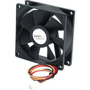 StarTech FAN8X25TX3L 80x25mm Ball Bearing Quiet Computer Case Fan w/ TX3 Connector - Fan Kit