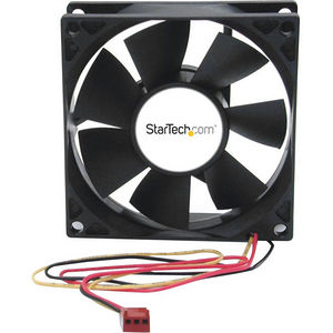 StarTech FANBOX2 80x25mm Dual Ball Bearing Computer Case Fan w/ TX3 Connector