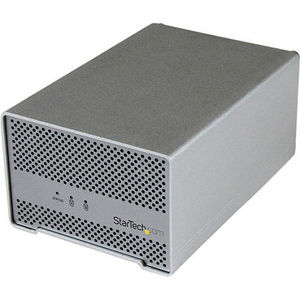 """StarTech S252SMTB3 Thunderbolt Hard Drive Enclosure with Thunderbolt Cable - Dual Bay 2.5"""" HDD"""