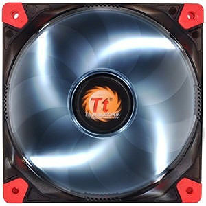 Thermaltake CL-F018-PL12WT-A Luna 12 LED White Cooling Fan