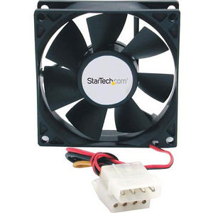 StarTech FANBOX 80x25mm Dual Ball Bearing Computer Case Fan w/ LP4 Connector - System fan kit