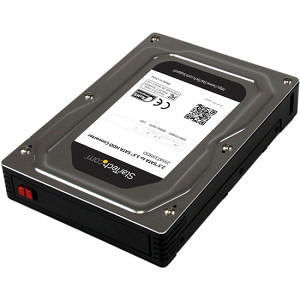 """StarTech 25SAT35HDD 2.5"""" to 3.5"""" SATA Aluminum Hard Drive Adapter Enclosure w/ Height up to 12.5mm"""