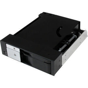 "StarTech HSB2535SATBK Dual Bay 5.25"" Trayless Hot Swap Mobile Rack Backplane for 2.5/ 3.5"" HDD/SSD"