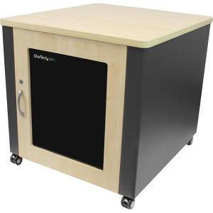 StarTech RKQMCAB12 12U Rack Enclosure Server Cabinet - 21.5 in. Deep - Soundproof - Wood Finish