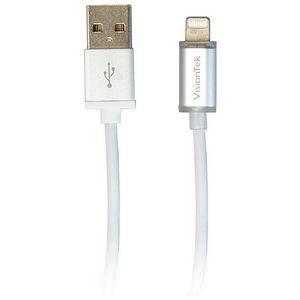 VisionTek 900896 Lightning to USB Smart LED 6 Inch 15 Centimeters MFI Cable