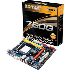 ZOTAC 760GMAT-A-E Desktop Motherboard - AMD Chipset - Socket AM3 PGA-941 - Retail Pack