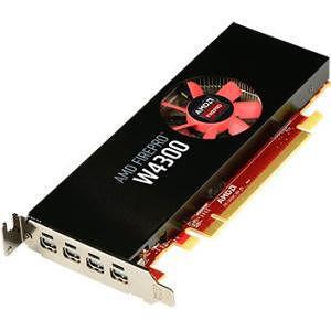 AMD 100-505973 FirePro W4300 Graphic Card - 4 GB GDDR5 - PCI-E 3.0 x16 - Low-profile - Single Slot