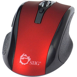 SIIG JK-WR0912-S2 6-Button Ergonomic Wireless Optical Mouse - Red