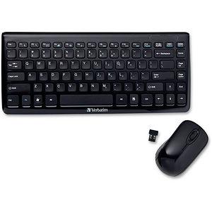 Verbatim 97472 Wireless Mini Slim Keyboard and Optical Mouse - Black