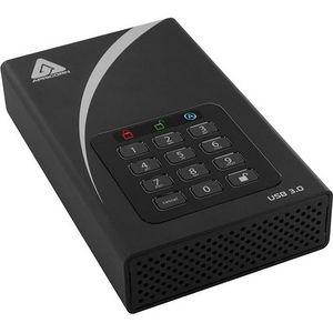 "Apricorn ADT-3PL256-8000 Aegis Padlock DT 8 TB 3.5"" External Hard Drive"