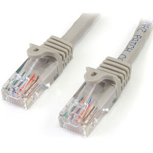 StarTech 45PATCH6GR 6 ft Gray Snagless Cat5e UTP Patch Cable
