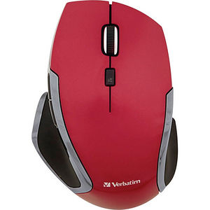 Verbatim 99018 Wireless Notebook 6-Button Deluxe Blue LED Mouse - Red
