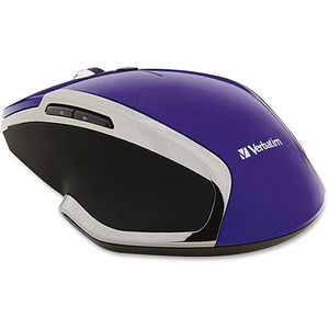 Verbatim 99017 Wireless Notebook 6-Button Deluxe Blue LED Mouse - Purple