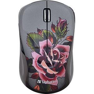 Verbatim 98614 Wireless Notebook Multi-Trac Blue LED Mouse, Tattoo Series