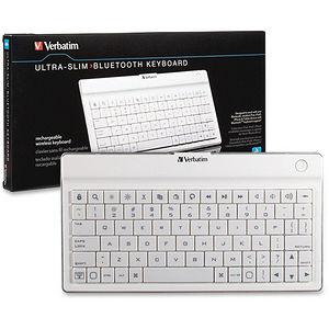 Verbatim 97754 Ultra Slim Bluetooth White Keyboard