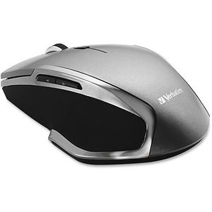 Verbatim 98621 Wireless Notebook 6-Button Deluxe Blue LED Mouse - Graphite