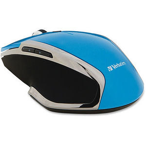 Verbatim 99016 Wireless Notebook 6-Button Deluxe Blue LED Mouse - Blue