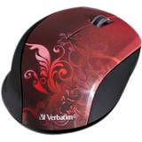 Verbatim 97784 Wireless Notebook Optical Mouse, Design Series - Red