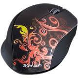 Verbatim 97782 Wireless Notebook Optical Mouse, Design Series - Orange