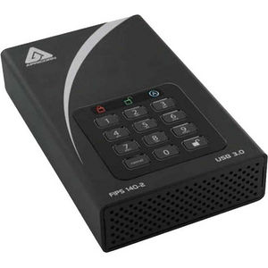 "Apricorn ADT-3PL256F-3000 Aegis Padlock DT FIPS 3 TB 3.5"" External Hard Drive"